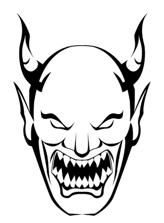 revenge: demon head Illustration