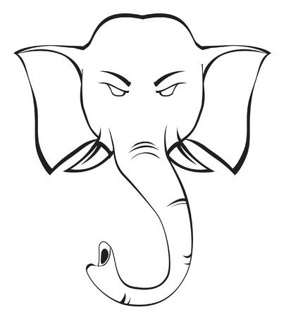 dangerous love: elefante Vettoriali