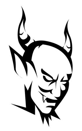 demonio: diablo cabeza Vectores