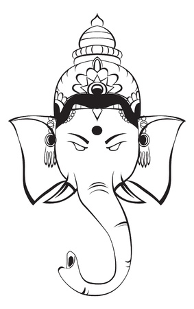 deepawali: ganesha Illustration