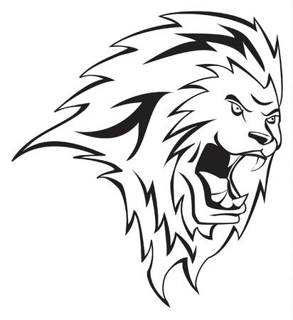 lion roar: lion head