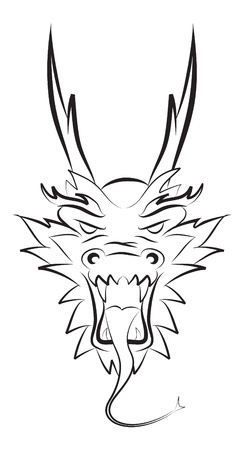 dragon tattoo design: dragon head
