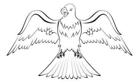 adler silhouette: Adler Illustration