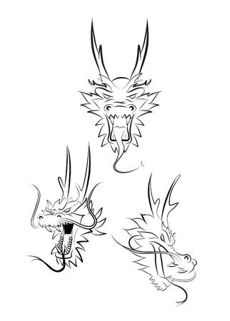 dragon head Stock Vector - 17800236
