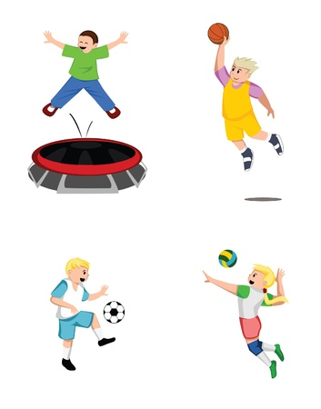 Kid Sport Collection Vector