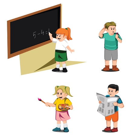 Kid Education Collection Vector