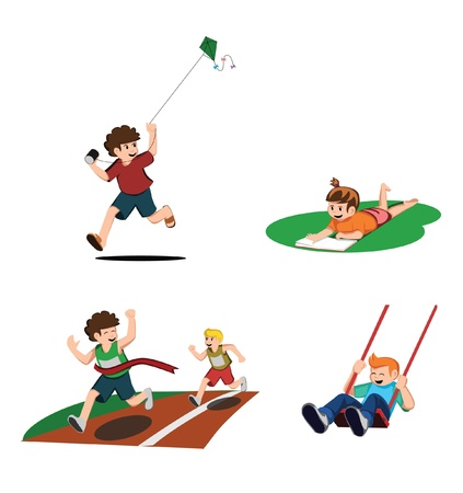 Kid Activity Collection Vector