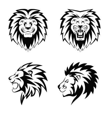 Lion Face Vektorové ilustrace
