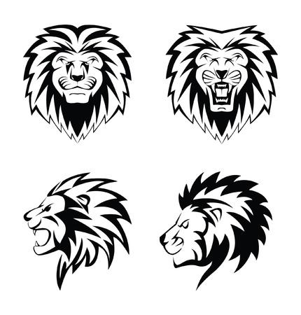 lynxs: Visage de lion Illustration