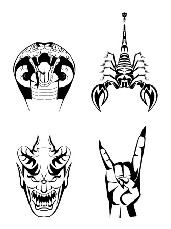 Collection Set Tattoo Vector