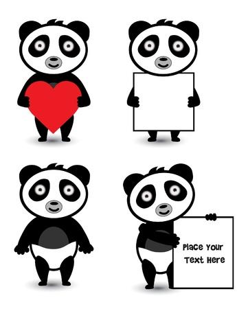 Panda Set Vector