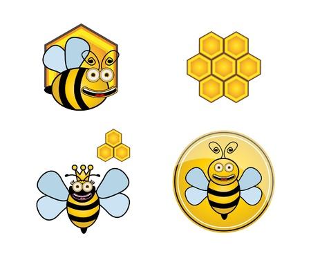 Set bee Vector
