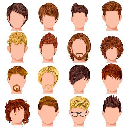 conception de collection de la mode coiffure masculine mordern
