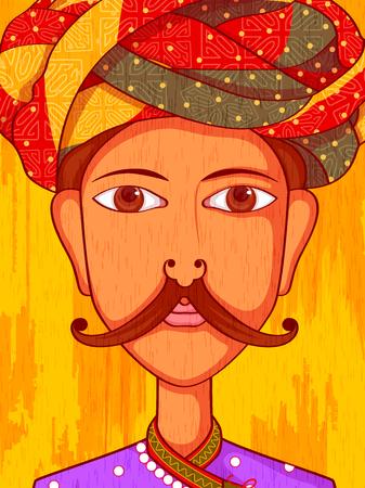 design costume: Vector design of Gujarati Man in traditional costume of Gujarat, India