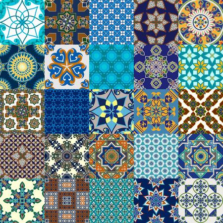 iran mosaic: Vector design of seamless Persian tile collection