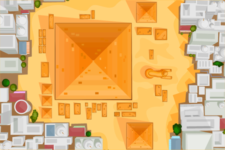khafre: Vector design of birds eye view of The Great Pyramid of Giza Illustration