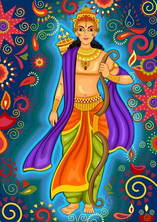 ramayan: design of Indian God Rama for Dussehra festival celebration in India