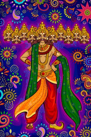 ravana: design of India festival Happy Dussehra background