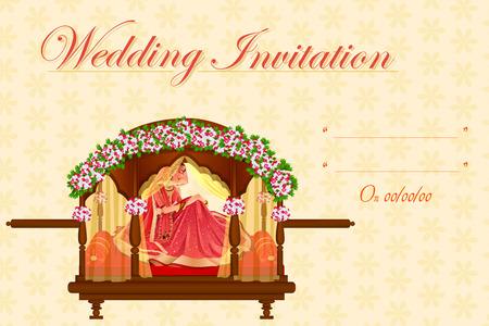Indiase vrouw bruid in de huwelijksceremonie van India