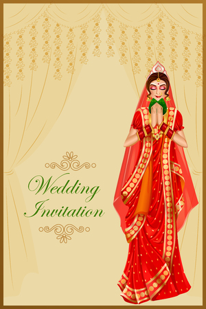 Indian woman bride in wedding ceremony of India