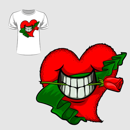 Abstract graphic design of love and Valentine for t-shirt or banner print
