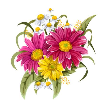 招待状やグリーティング カードのデザインのヴィンテージ カラフルな花束 写真素材 - 75179322