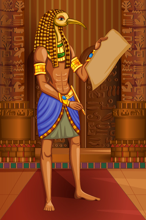cleopatra: Vector design of Egyptian civiliziation King Pharaoh Horus God on Egypt palace backdrop