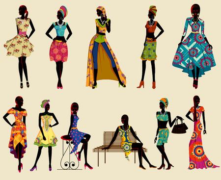 Beautiful African black woman modern stylish model.