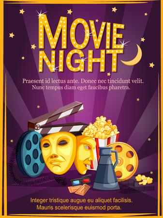 Affiche voor filmfeestfeest feestavond