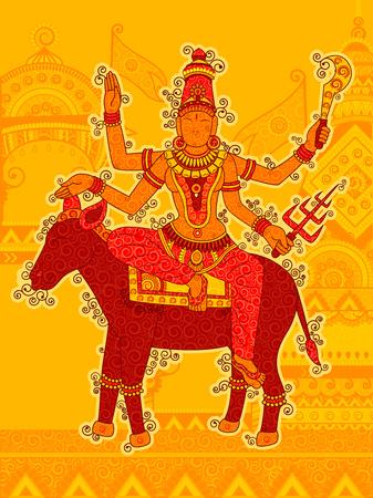 Vintage Statue of Indian Goddess Kaal Ratri Sculpture