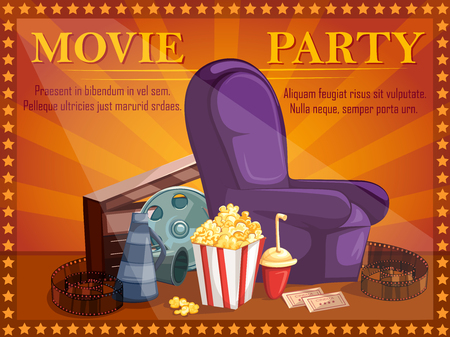 Poster for Movie Film festival party night