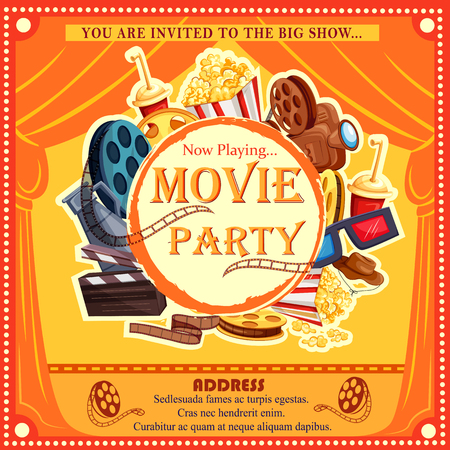 film industry: Poster for Movie Film festival party night