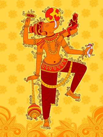 Vector design of Vintage statue of Indian Lord Varaha sculpture one of avatar from the Dashavatara of Vishnu in India art style Иллюстрация