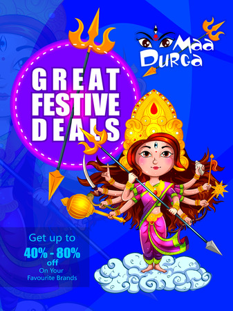 Happy Durga Puja India holiday festival deal promotion background