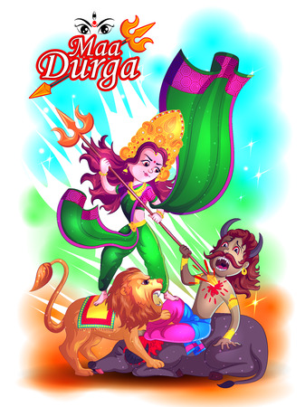 Happy Durga Puja festival India holiday background. Vector illustration