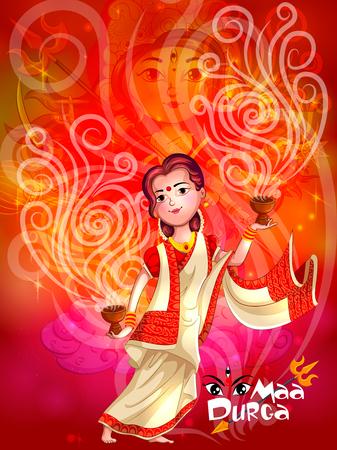 Happy Durga Puja festival India holiday background