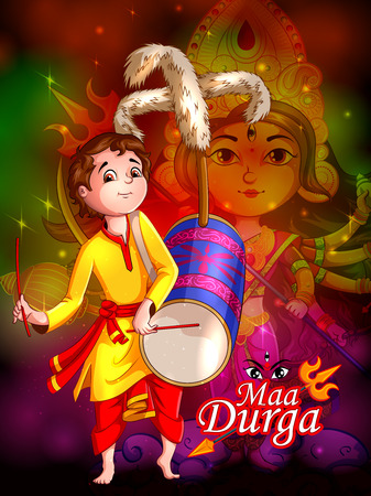 Happy Durga Puja festival India holiday background
