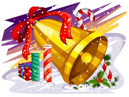 Bougie décorée pour fond de célébration Merry Christmas Holiday