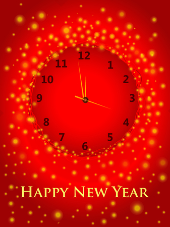 Happy New Year seasons greeting vector illustration