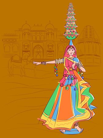 Donna che esegue la danza popolare Matki del Madhya Pradesh, India Archivio Fotografico - 98544717