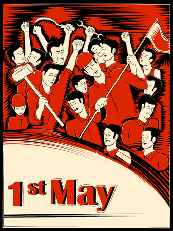 1st May Happy Labor Day on ocassion of International Workers Day background