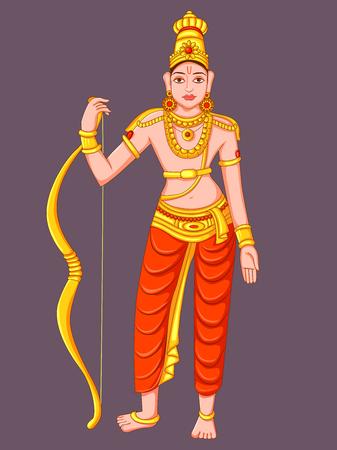 Statue of Indian Lord Rama Sculpture Ilustração
