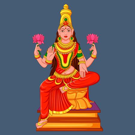 Statue of Indian Goddess Lakshmi Sculpture