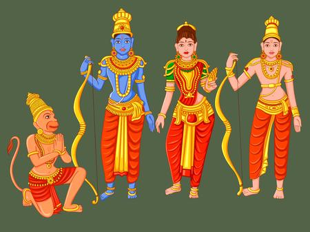 Statue of Indian God Rama, Laxmana, Sita and Hanuman  sculpture