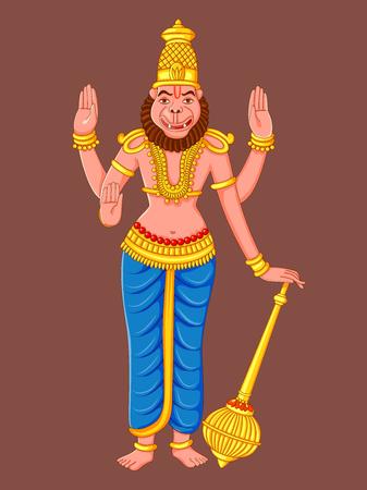 Statue of Indian Lord Narasimha Sculpture