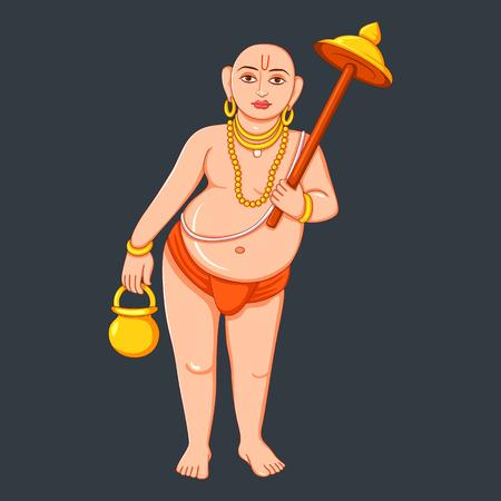 Statue of Indian Lord Vamana Sculpture Ilustração