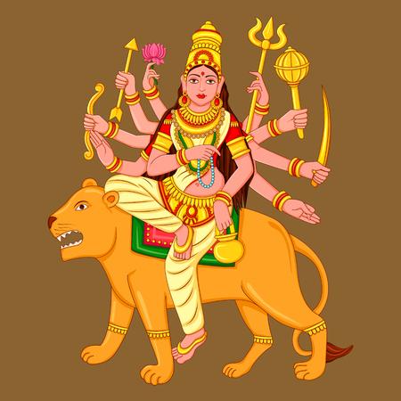 Statue of Indian Goddess Chandraghanta Sculpture