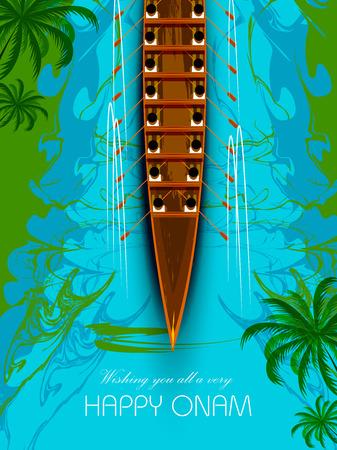 Happy Onam background for Festival of South India Kerala 向量圖像