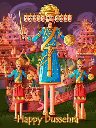 Ravana on India festival Happy Dussehra background