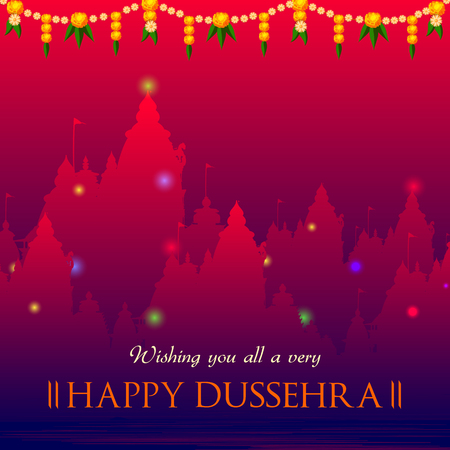 Happy Dussehra Navratri celebration India holiday background Stock Photo